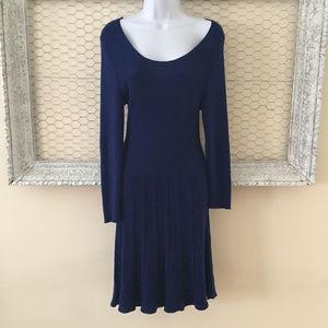 THAKOON For Design Nation Blue Sweater Dress M